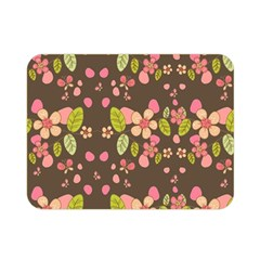 Floral pattern Double Sided Flano Blanket (Mini)