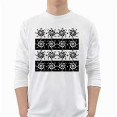 Three Wise Men Gotham Strong Hand White Long Sleeve T-Shirts