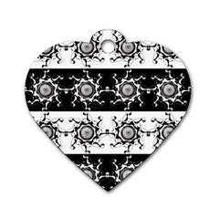Three Wise Men Gotham Strong Hand Dog Tag Heart (One Side)