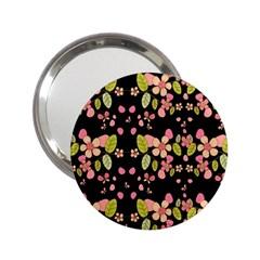 Floral pattern 2.25  Handbag Mirrors