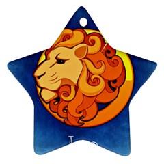 Zodiac Leo Ornament (Star)