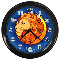 Zodiac Leo Wall Clocks (Black)