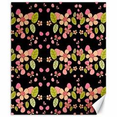 Floral pattern Canvas 8  x 10