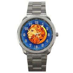 Zodiac Leo Sport Metal Watch