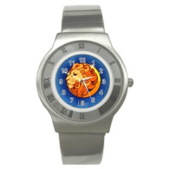 Zodiac Leo Stainless Steel Watch