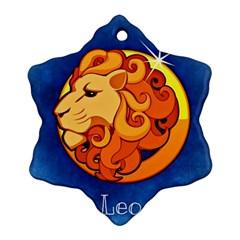 Zodiac Leo Ornament (Snowflake)