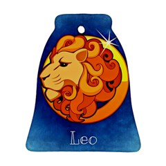 Zodiac Leo Bell Ornament (Two Sides)