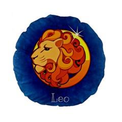 Zodiac Leo Standard 15  Premium Flano Round Cushions
