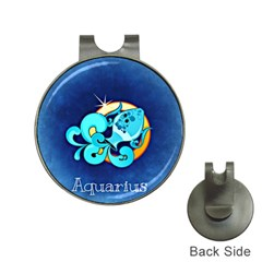 Zodiac Aquarius Hat Clips with Golf Markers