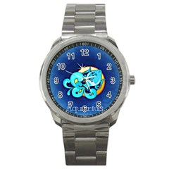 Zodiac Aquarius Sport Metal Watch