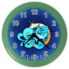 Zodiac Aquarius Color Wall Clocks