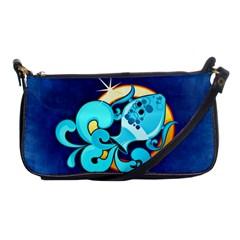Zodiac Aquarius Shoulder Clutch Bags