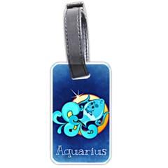 Zodiac Aquarius Luggage Tags (Two Sides)