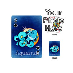 Zodiac Aquarius Playing Cards 54 (Mini)