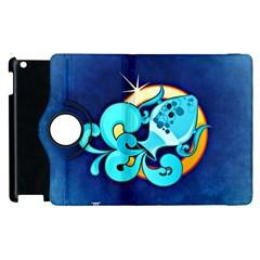 Zodiac Aquarius Apple iPad 2 Flip 360 Case