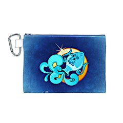 Zodiac Aquarius Canvas Cosmetic Bag (M)