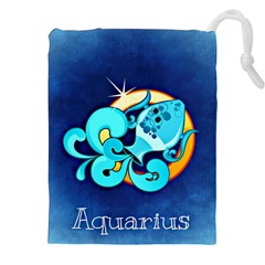 Zodiac Aquarius Drawstring Pouches (XXL)