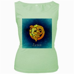 Zodiac Aries Women s Green Tank Top