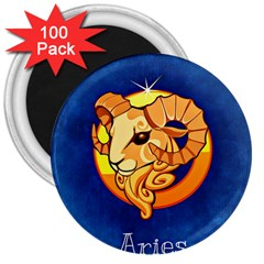 Zodiac Aries 3  Magnets (100 pack)