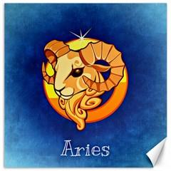Zodiac Aries Canvas 12  x 12