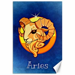 Zodiac Aries Canvas 12  x 18