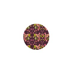 Floral Pattern 1  Mini Buttons