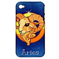 Zodiac Aries Apple iPhone 4/4S Hardshell Case (PC+Silicone)