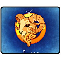 Zodiac Aries Double Sided Fleece Blanket (Medium)