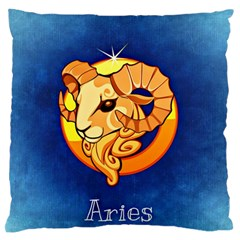 Zodiac Aries Large Flano Cushion Case (Two Sides)
