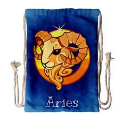 Zodiac Aries Drawstring Bag (Large)