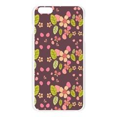 Floral pattern Apple Seamless iPhone 6 Plus/6S Plus Case (Transparent)