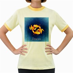 Zodiac Pisces Women s Fitted Ringer T-Shirts