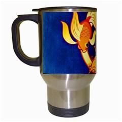 Zodiac Pisces Travel Mugs (White)