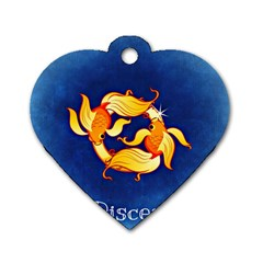 Zodiac Pisces Dog Tag Heart (One Side)