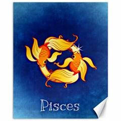 Zodiac Pisces Canvas 11  x 14