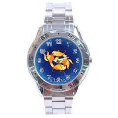 Zodiac Pisces Stainless Steel Analogue Watch