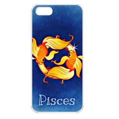 Zodiac Pisces Apple iPhone 5 Seamless Case (White)