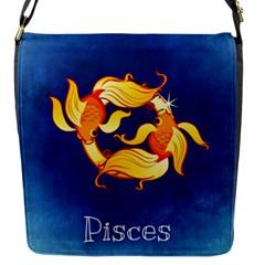 Zodiac Pisces Flap Messenger Bag (S)