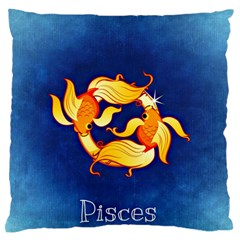 Zodiac Pisces Large Flano Cushion Case (Two Sides)