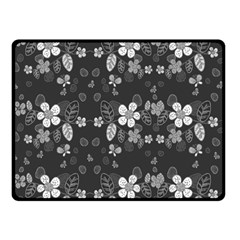 Floral pattern Double Sided Fleece Blanket (Small)