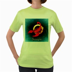 Zodiac Scorpio Women s Green T-Shirt