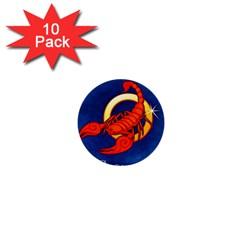 Zodiac Scorpio 1  Mini Buttons (10 pack)