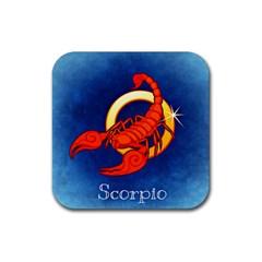 Zodiac Scorpio Rubber Coaster (Square)