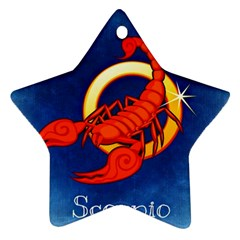 Zodiac Scorpio Star Ornament (Two Sides)
