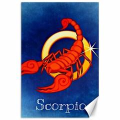 Zodiac Scorpio Canvas 24  x 36