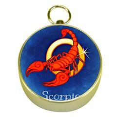 Zodiac Scorpio Gold Compasses