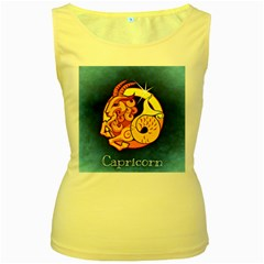 Zodiac Capricorn Women s Yellow Tank Top