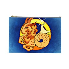 Zodiac Capricorn Cosmetic Bag (Large)