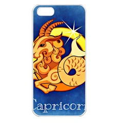Zodiac Capricorn Apple iPhone 5 Seamless Case (White)