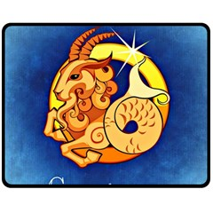 Zodiac Capricorn Double Sided Fleece Blanket (Medium)